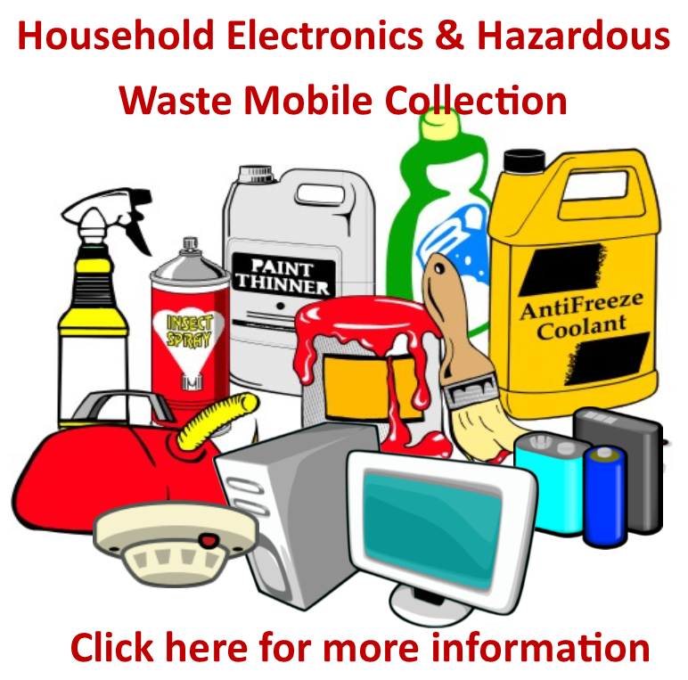 Hazardous Waste Collection Event to be held on November 2, 2019 from 9:00AM - 3:00PM